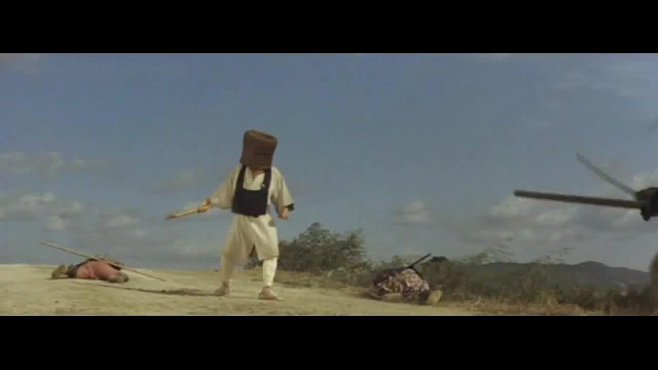 Боевая стойка монаха Комусо. Кадр из фильма