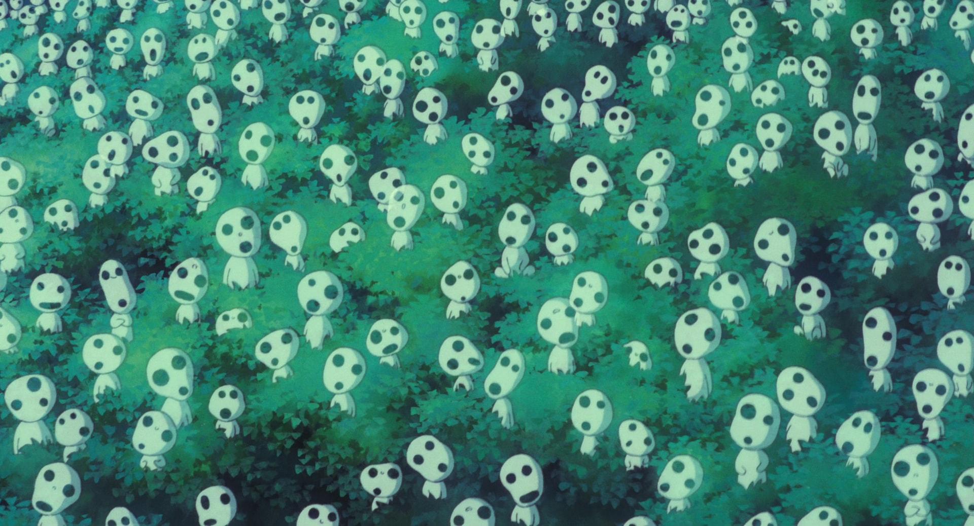 Дух лесов Кодама из аниме Принцесса Мононоке