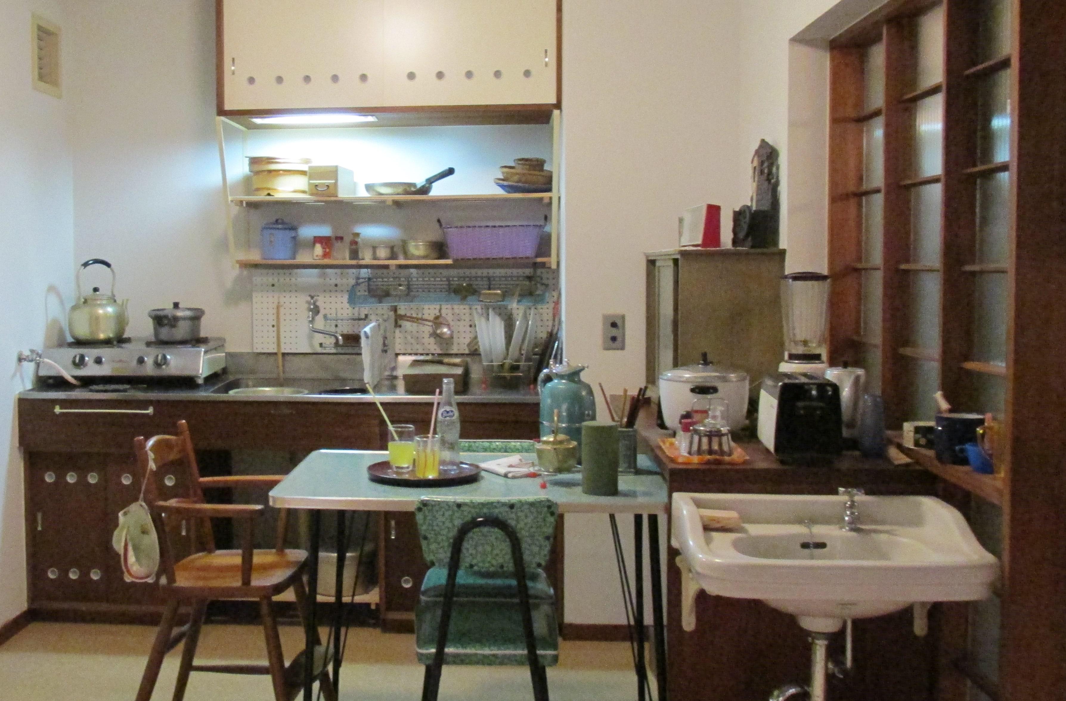 Кухня в японском доме 60-х годов