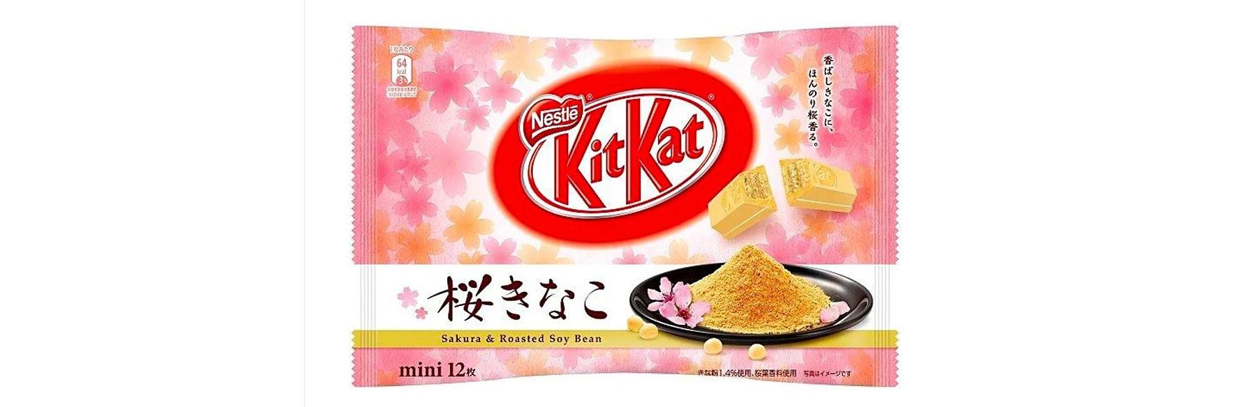 К периоду цветения сакуры в Японии был выпущен новый вкус KitKat с Сакурой и Жареными соевыми бобами