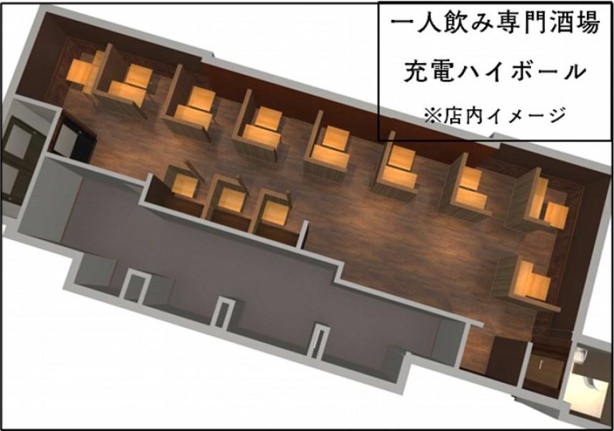 В Японии появился бар для тех, кто предпочитает пить в одиночестве