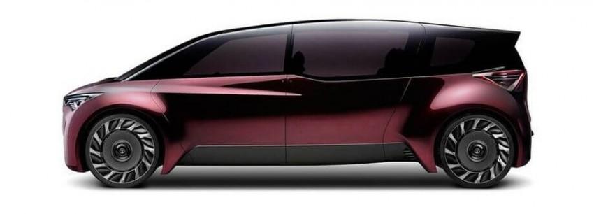 Toyota представила концпет-арты экологически чистого электрокара будущего с безвоздушными шинами
