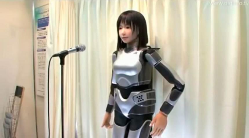 В Японии был создан поющий робот