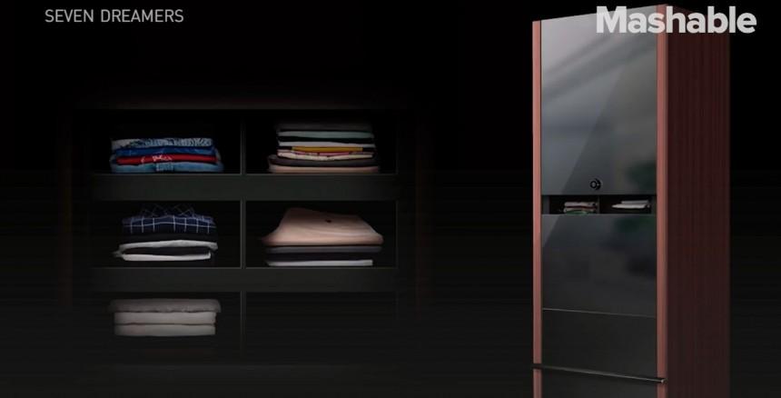 В Японии разработали шкаф, который способен без человеческой помощи складывать одежду